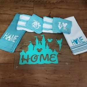 Disney Cutting Board and Kitchen Towels